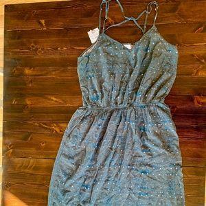Carve Designs Midi Patterned Grey Dress